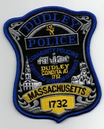 MASSACHUSETTS MA DUDLEY POLICE NEW PATCH SHERIFF