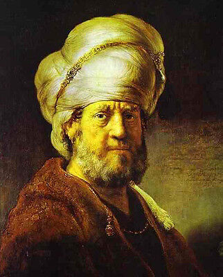 Perfect Oil painting Rembrandt - Portrait of a Man in an Oriental Costume](Man In Oriental Costume)