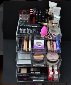 Clear Acrylic Makeup & Jewellery Organizers for Vanity