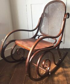 Antique 1920's rocking bentwood chair -Thonet style
