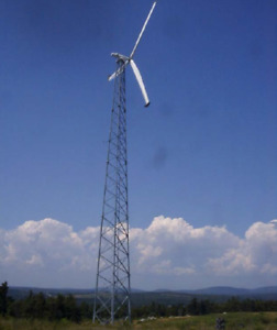 4 Disassembled AOC 15/50 Wind Turbines & Seacan SeaContainer