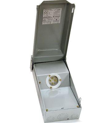 Ge Generator Power Inlet Box 30-amp Nema L14-30 Receptacles 120240 Volts