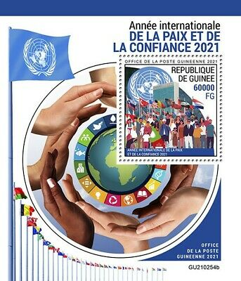 Guinea 2021 MNH United Nations Stamps International Year of Peace & Trust 1v S/S