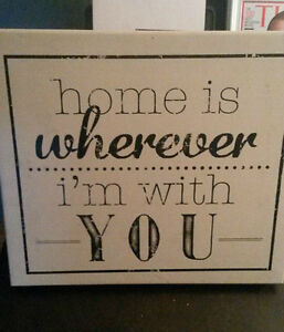 """Wall Decor Frame -  """"Home Is Wherever I'm With You"""" Cornwall Ontario image 1"""