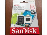 SanDisk 128gb Micro SD Memory Card + Adaptor