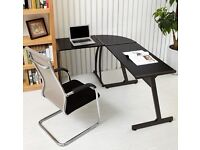 Corner Computer Desk/ L Shape Office Computer Desk Black - New