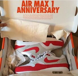 BRAND NEW NIKE AIR MAX 1 ANNIVERSARY EDITIONS SIZE UK 5. COLLECTABLE