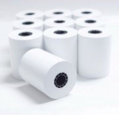 New 10 Rolls Thermal Receipt Paper Credit Card Machine Register Pos 2 14 X 50