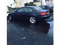 BMW 3 series black convertible