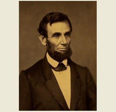 First Abraham Lincoln President PHOTO 1861, Portrait Art, Civil War President  for sale  Shipping to Canada