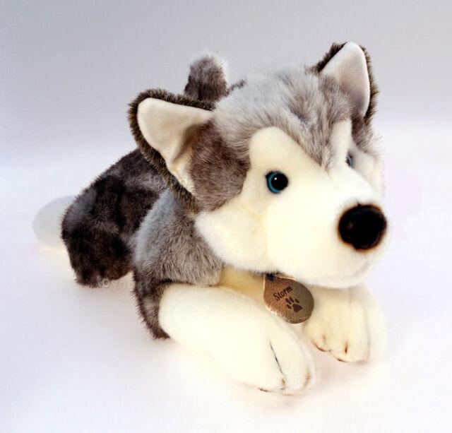 'Storm Husky' Dog 50cm, Keel Plush Soft Toy, Cuddly Stuffed Animal Teddy