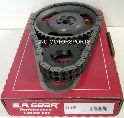 Engine Timing Set S.A. GEAR 78150R SB Chevy 350 Double Roller Factory Roller Cam Factory Roller Cam