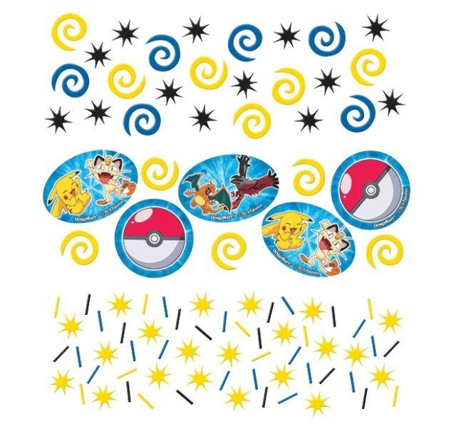 Pokemon Pokeball Pikachu Meowth Party Table Confetti Decoration 1-5pk