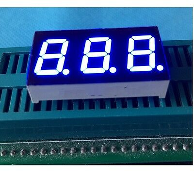 New 0.28 Inch 3 Digit Led Display 7 Seg Segment Common Anode Blue