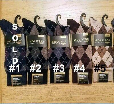 GOLD TOE Men's Premier Cotton Blend Multi-Color Dress Socks, 10-12, $8.50 each ()