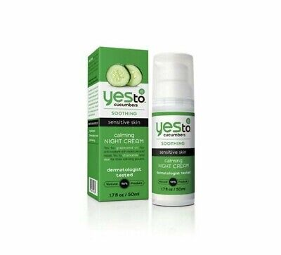 Yes To Cucumbers Calming Night Cream, 1.7 Fluid Ounce (New + Free Shipping)