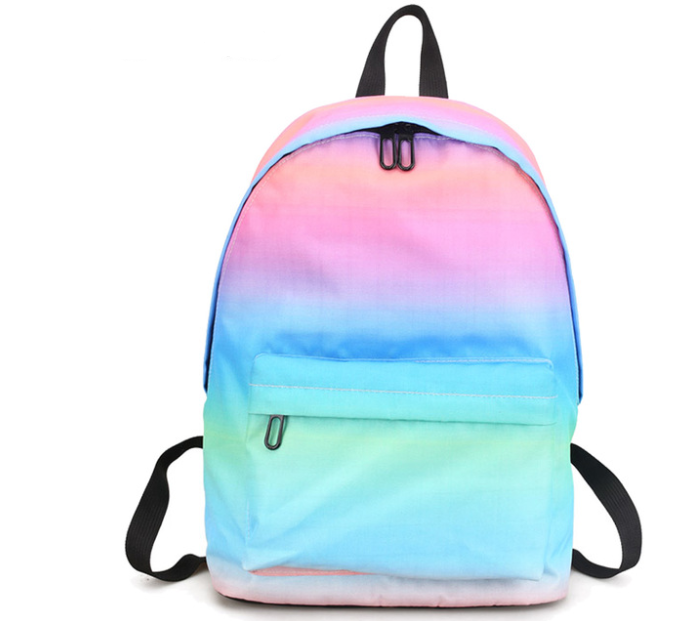 info for 7a066 a994f Fashion And Trendy Girls Bag Ombre School Backpack Pastel Color Book  Rucksack