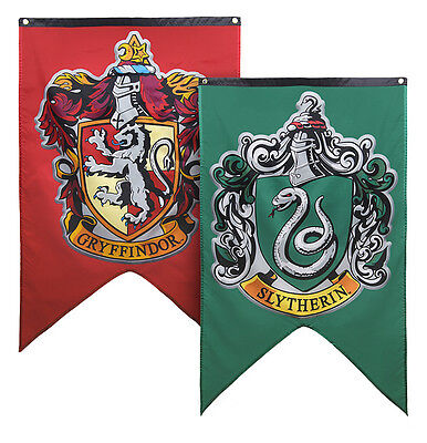 Set Of 2  Large 30 X50  Harry Potter House Flag  Wall Banner  Green And Red