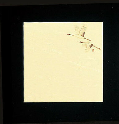 100 Sheets! Japanese Kaishi Paper: Decorative Table Mat: Crane 15 x 15 cm