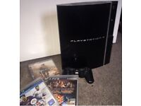 Ps3 console with controller and games