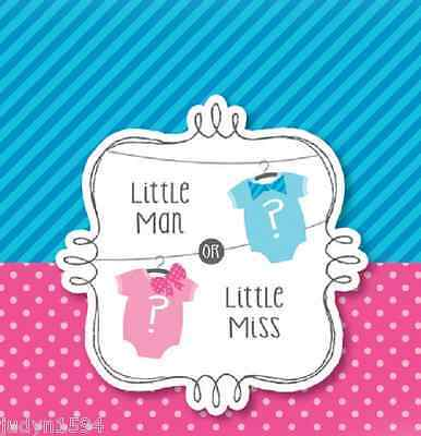 LITTLE MAN LITTLE MISS BOW OR BOWTIE BABY SHOWER PARTY INVITATIONS REVEAL SECRET](Little Man Invitations Baby Shower)