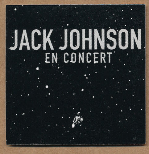 Jack Johnson En Concert RARE promo sticker