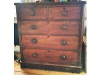 Early Victorian mahogany chest of 5 drawers