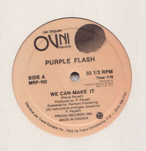 VINYLE RARE - PURPLE FLASH - WE CAN MAKE IT-AUTOGRAPHE