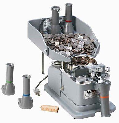 Klopp Ce Electric Coin Counter Wrapper Bagger - 1 1 Token To Dime Coin