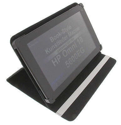 Tasche für HP Omni 10 5600EG Book Style Tablet Schutz Hülle Halter Ständer Weiss (Hp Tablet-schutzhülle)