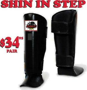 SHIN IN STEP, LEATHER BANDED FOR ,MUAY THAI, MMA, SPECIAL DISCOUNT FOR FOR CLUBS, (905) 364-0440 WWW.FIGHTPRO.CA