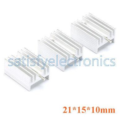 10pcs Diy Heat Sink 21x15x10mm Aluminum Heat Sink To-220 Transistors