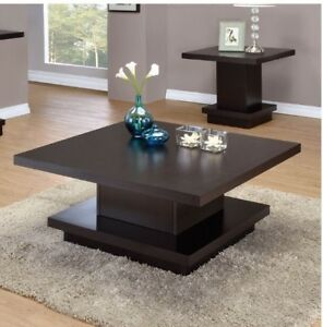 Brand New! Square Cocktail Table in Cappuccino