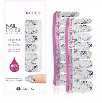 2 Sets INCOCO Nail Polish Applique App Strips Wrap MASTERPIECE Multi Color Swirl