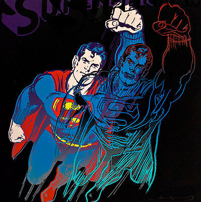 Superman from Myths 1981 A1+ by Andy Warhol High Quality Canvas Print