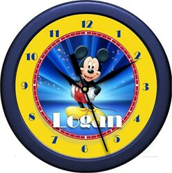 Personalized Mickey Mouse 2  Wall Clock Child / Nursery Decor Room Gift