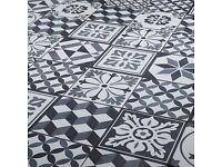 Konkrete Grey Matt Décor mix Porcelain Floor tile