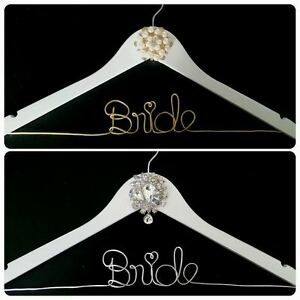 personalized wire wedding name hanger- Bride hanger London Ontario image 1
