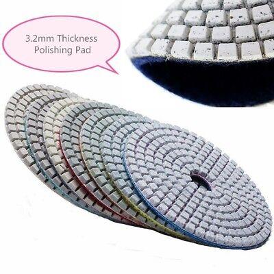 5 Inch Diamond Polishing Pads Wetdry Set Granite Concrete Marble Stone 7 Piece
