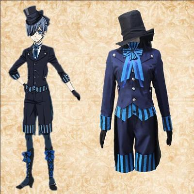 Anime Black Butler Ciel Herren Abendkleid Cosplay Uniform Halsschleife Kostüme