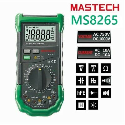 New Ms8265 4 12 Digital Multimeter Acdcufhz Dmm