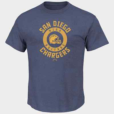 Nfl San Diego Chargers Majestic Mens Keep Score T Shirt   Blue