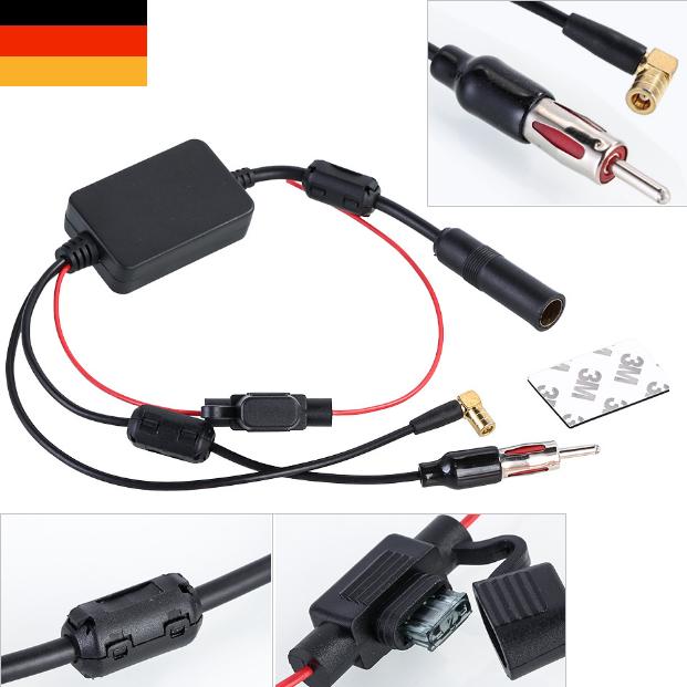 DAB+ Antenne FM Antennenverstärker Splitter Radio Und Adapter Frequenzweiche DE