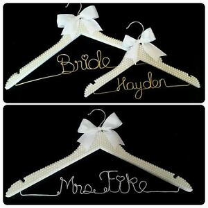 personalized wire wedding name hanger- Bride hanger London Ontario image 8