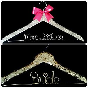 personalized wire wedding name hanger- Bride hanger London Ontario image 4