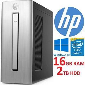 NEW OB HP ENVY DESKTOP PC COMPUTER - 119340929 - INTEL CORE i7 6700 16GB RAM 2TB HDD WINDOWS 10 NEW OPEN BOX