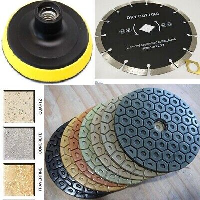 7 Diamond Polishing Pad Cutting Blade 101 Granite Concrete Stone Brick Block
