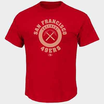 Nfl San Francisco 49Ers Majestic Mens Keep Score T Shirt   Red