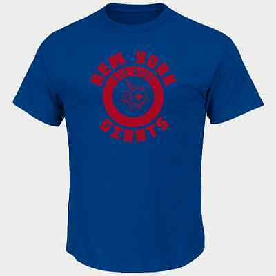 Nfl New York Giants Majestic Mens Keep Score T Shirt   Blue