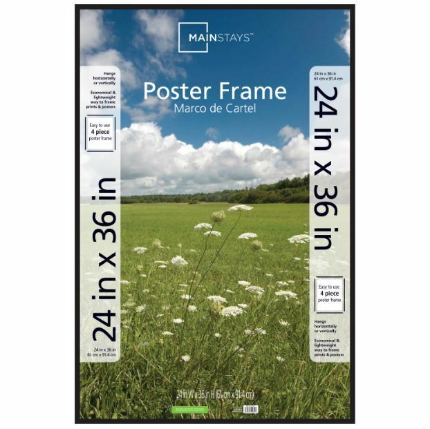 thin 24x36 poster picture frame black display